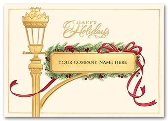 Gilded Streetpost Holiday Card