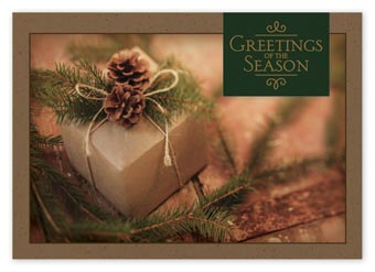 Simple Gift Recycled Paper Holiday Cards