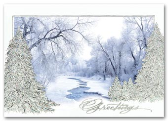 Woodland Stream Business Christmas Card