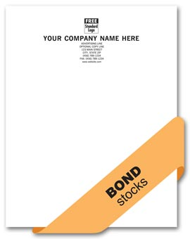 Value Letterhead, 1 or 2 ink colors, bond stocks