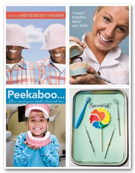 Dental Reminder Card, Lollipop Laser Postcard