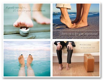 Podiatry Reminder Card,  Tiptoe  Laser Postcard
