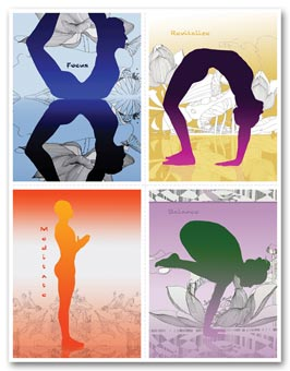 Healthcare Reminder Card, Zen Yoga Poses Laser Postcard