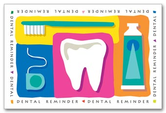 Dental Laser Postcards, Dental Reminder