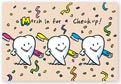 Dental Laser Postcards, March in for a Check-up