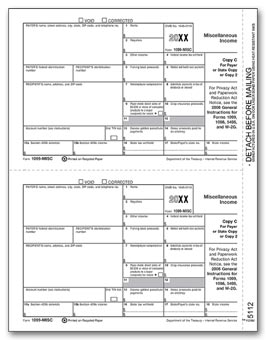 2016 Laser 1099-MISC Income, Payer/State Copy C, Bulk