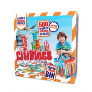 CITIBLOCS COLORED 500PC SET WITH  STORAGE BIN