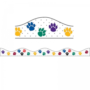 MAGNETIC BORDER COLOR PAWS