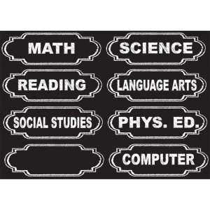DIE-CUT MAGNETS CHALKBOARD CLASS  SUBJECTS