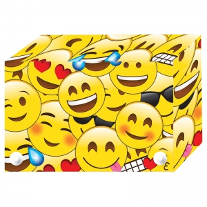 EMOJIS INDEX CARD BOXES 4X6IN  DECORATED POLY
