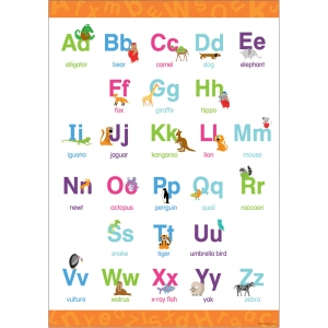 EARLY LEARNING POSTER UPPER &  LOWERCASE LETTERS