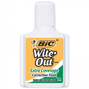 BIC WITE OUT CORRECTION FLUID EXTRA  COVERAGE