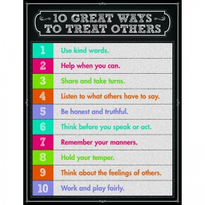 10 GREAT WAYS TO TREAT OTHERS  CHARTLET GR 1-5