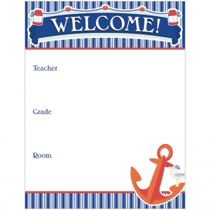 WELCOME CHARTLET GR PK-8  DECORATIVE