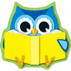 READING OWL MINI CUT OUTS