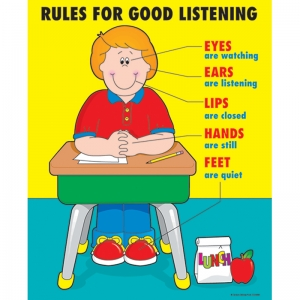 CHARTLET RULES FOR GOOD LISTENING  17 X 22