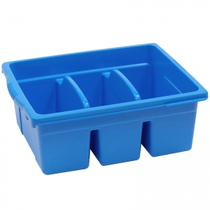 LEVELED READING BLUE LARGE DIVIDED  BOOK TUB