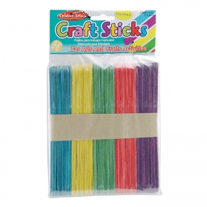 CRAFT STICKS JUMBO COLORED 75/PK