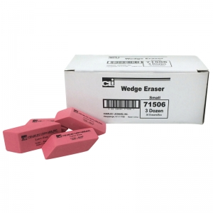 SYNTHETIC WEDGE ERASERS SMALL 36/BX