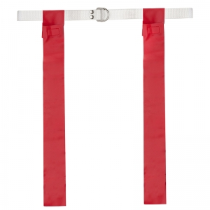 FLAG FOOTBALL SET 12 RED ONE SIZE  FITS ALL BELTS