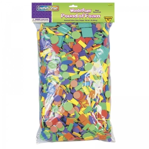 POUND OF FOAM ASSTD SHAPES COLORS  AND SIZES