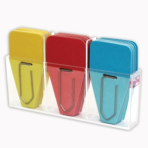SOLID CLIP TABS 24PK RED BLUE  YELLOW