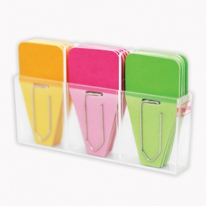 SOLID CLIP TABS 24PK PINK GREEN  ORANGE
