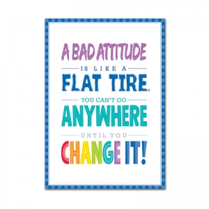 A BAD ATTITUDE IS  INSPIRE U POSTER  PAINT