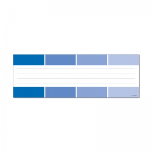BLUE PAINT CHIP NAME PLATES - PAINT