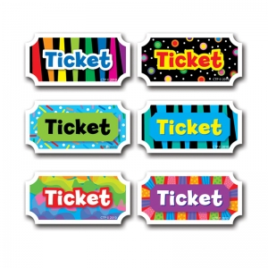 TICKETS ASSORTED DESIGNS 216PK