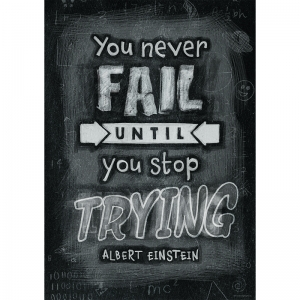 YOU WILL NEVER FAIL UNTIL POSTER