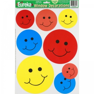 WINDOW CLING SMILES 12 X 17