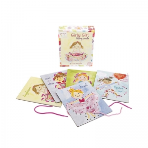 GIRLY GIRL LACING CARDS