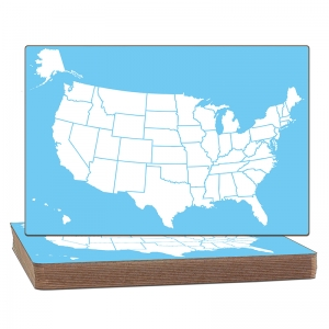 US MAP DRY ERASE BOARD CLASSPACK