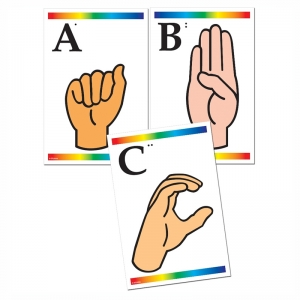 LEARNING CARDS SIGN LANGUAGE &