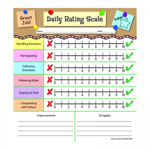 DAILY RATING SCALE NOTEPADS GR PK-2