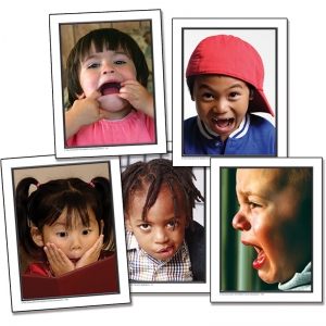 PHOTOGRAPHIC LEARNING CARDS FACIAL  EXPRESSIONS