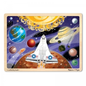 SPACE VOYAGE 48-PIECE WOODEN JIGSAW  PUZZLE