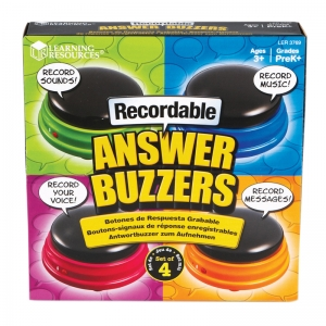RECORDABLE ANSWER BUZZERS SET OF 4