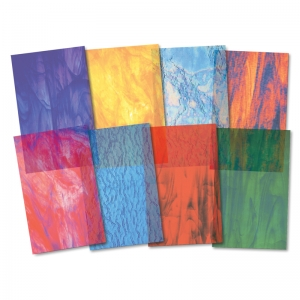 STAINED GLASSINE PAPER