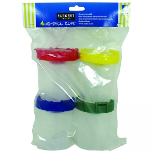 4PK NO SPILL CUPS W/ POLY BAG