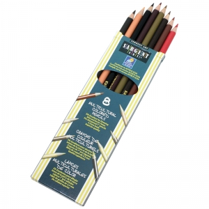 8CT SARGENT COLORS OF MY FRIENDS  MULTICULTURAL PENCIL 7 IN