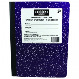 PURPLE COMPOSITION BOOK 100 SHEETS