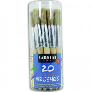 20CT JUMBO BRUSHES PLASTIC HANDLES  IN CANISTER