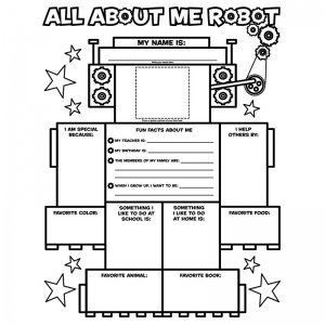 ALL ABOUT ME ROBOT GRAPHIC  ORGANIZER POSTERS
