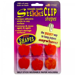 STIKKICLIPS 6 RED APPLES PER PACK