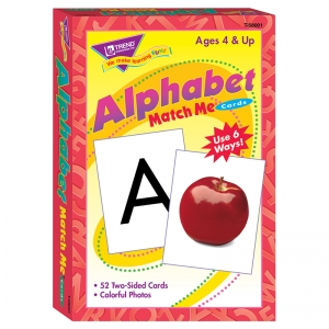 MATCH ME CARDS ALPHABET 52/BOX  TWO-SIDED CARDS AGES 4 & UP