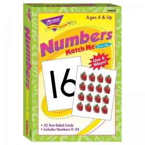 MATCH ME CARDS NUMBERS 0-25 52/BOX  TWO-SIDED CARDS AGES 4 & UP