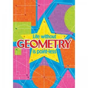 LIFE WITHOUT GEOMETRY IS POINT LESS  ARGUS LARGE POSTER