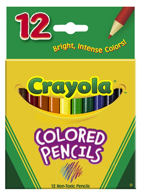 COLORED PENCILS 12CT HALF LENGTH